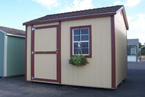 tan premium ranch with red trim