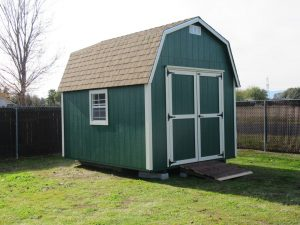 Green premium barn, double doors, Red Bluff